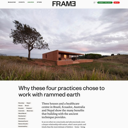 Why these four practices chose to work with rammed earth
