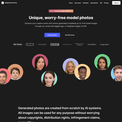 Generated Photos | Unique, worry-free model photos