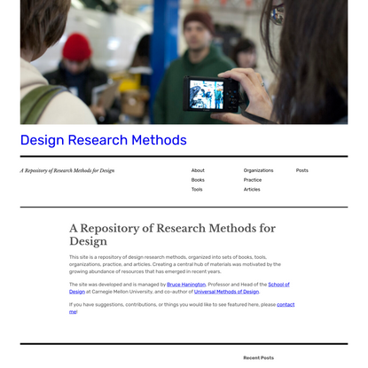 A Repository of Research Methods for Design - Design Research Methods