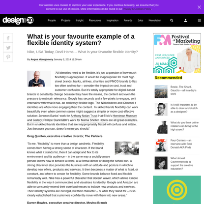 What is your favourite example of a flexible identity system? - Design Week