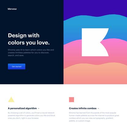 Khroma - The AI color tool for designers