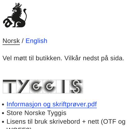 Store Norske Skriftkompani – Norsk