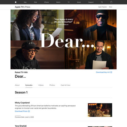 Dear… - Apple TV+ Press