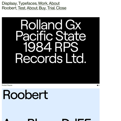 Roobert - Displaay Type Foundry