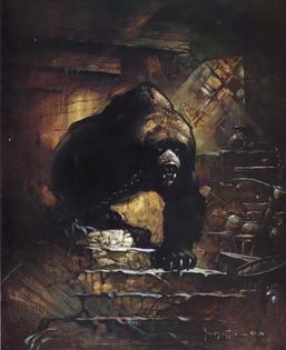 Frank Frazetta fantasy art illustration the Bear
