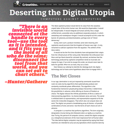 Deserting the Digital Utopia