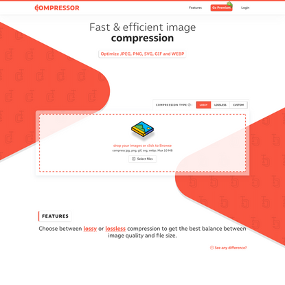 Compressor.io - optimize and compress JPEG photos and PNG images