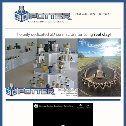 3D Potter - Real Clay 3D Ceramic Printers