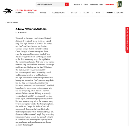 A New National Anthem by Ada Limón   Poetry Foundation