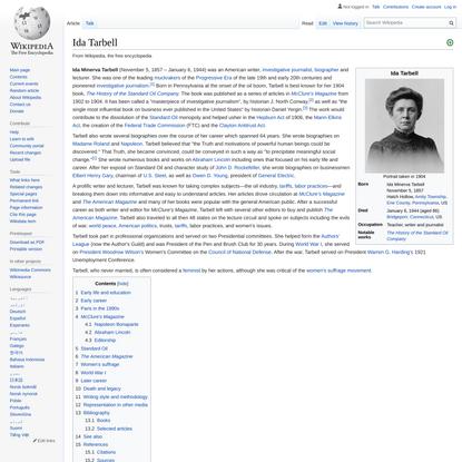 Ida Tarbell - Wikipedia