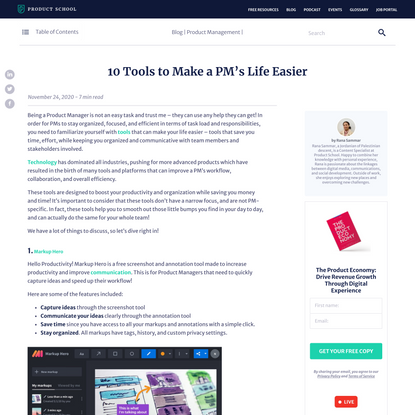 10 Tools to Make a PM's Life Easier - Product School - Product School