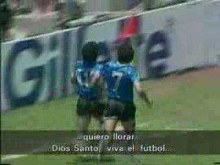 Maradona barrilete cósmico 1986