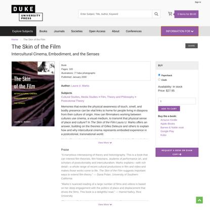Duke University Press - The Skin of the Film