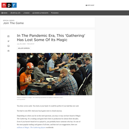 Covid-19 Makes 'Magic: The Gathering' Less Accessible : NPR