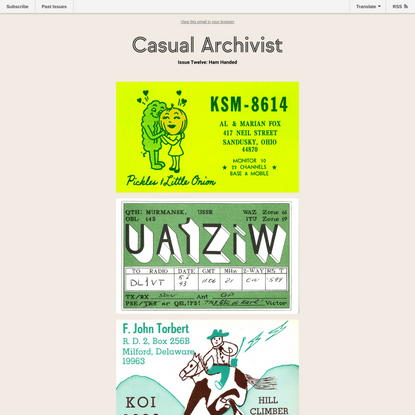 Casual Archivist: Ham Handed
