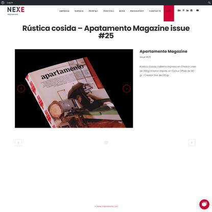 Rústica cosida - Apatamento Magazine issue #25 - Nexe Impressions