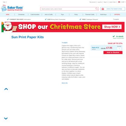 Sun Print Paper Kits