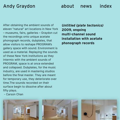Untitled (plate tectonics) — Andy Graydon