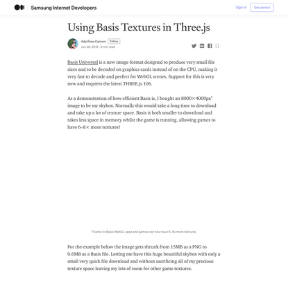 Using Basis Textures in Three.js
