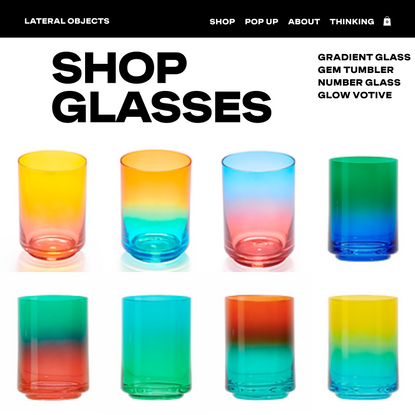 GLASSWARE   Lateral Objects