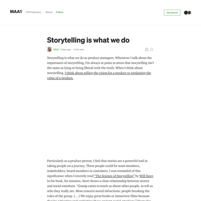 Storytelling is what we do