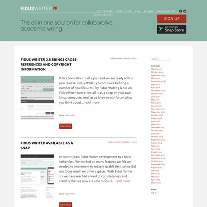 Fidus Writer   a semantic word processor for academics
