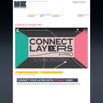 Create lines between layers using ConnectLayers Pro for After Effects