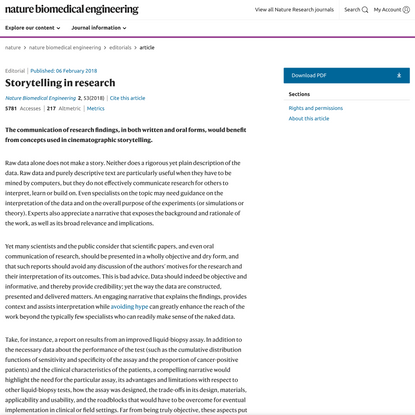 Storytelling in research