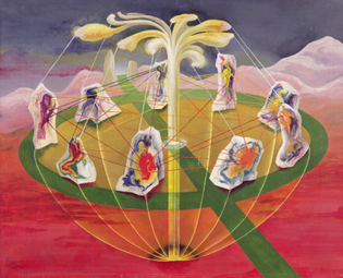 Ithell Colquhoun, The Dance of the Nine Opals, 1942
