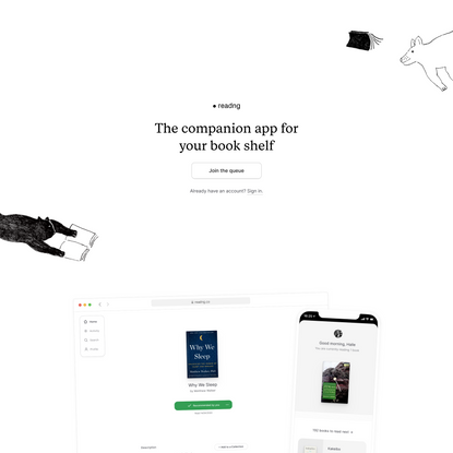 The companion app for your book shelf | Readng