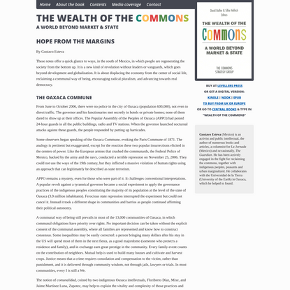 Hope from the Margins | The Wealth of the Commons