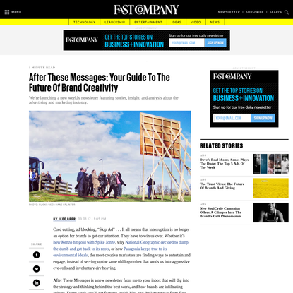 After These Messages: Your Guide To The Future Of Brand Creativity