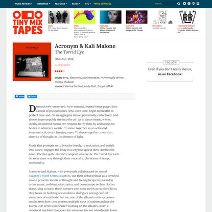 Music Review: Acronym & Kali Malone - TheTorridEye