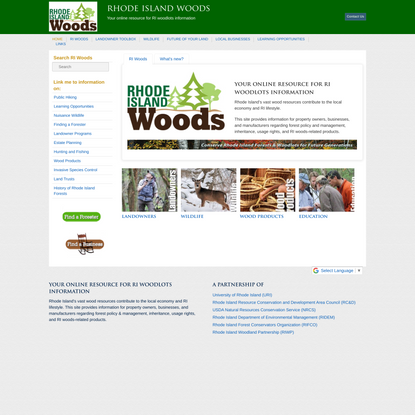 Rhode Island Woods