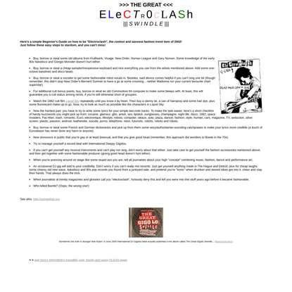 Electroclash is so sassy!