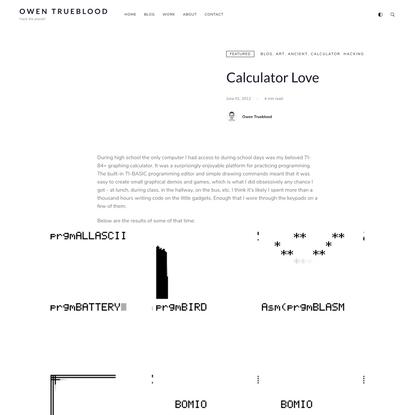Calculator Love