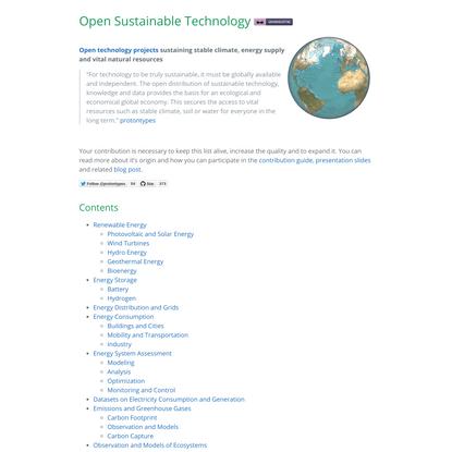 Open Sustainable Technology