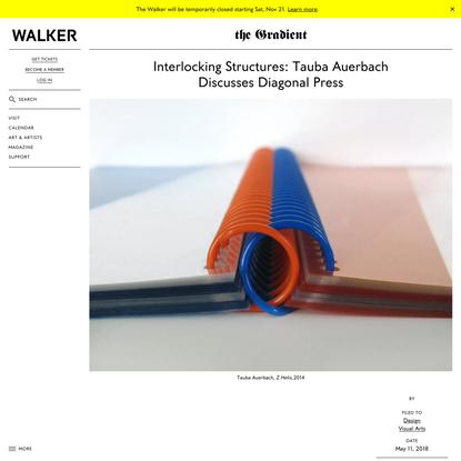 Interlocking Structures: Tauba Auerbach Discusses Diagonal Press