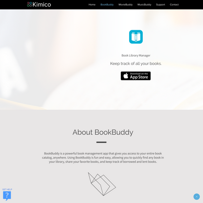 Keep track of all your books | BookBuddy | Kimico