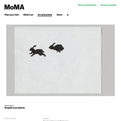 Susan Kare. Graphic icon sketch.   MoMA