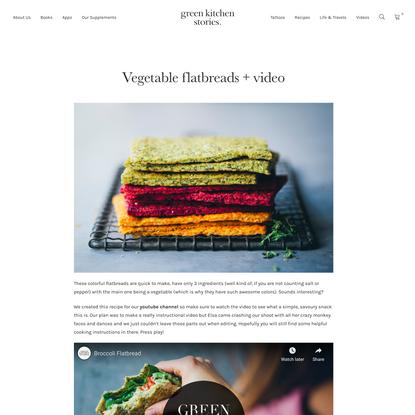 Vegetable flatbreads + video