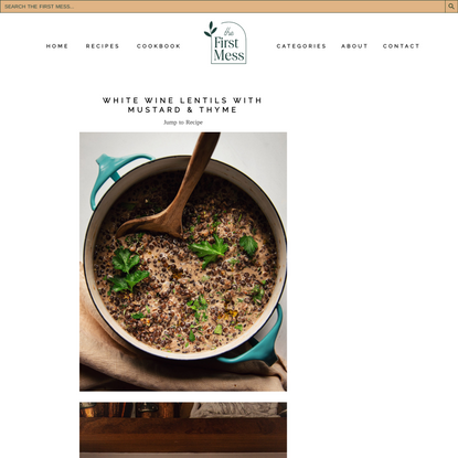 WHITE WINE LENTILS WITH MUSTARD & THYME