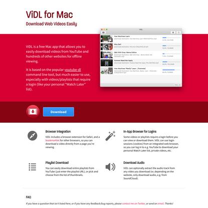 ViDL for Mac