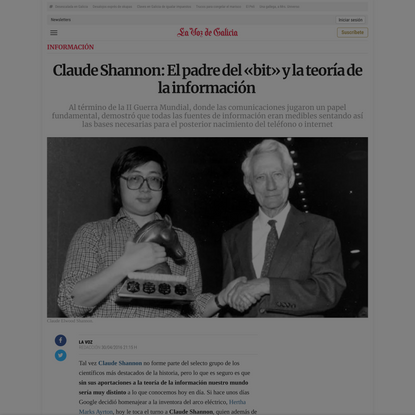 Claude Shannon: El padre del «bit» y la teoría de la información