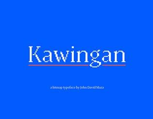 Kawingan - a bitmap serif typeface