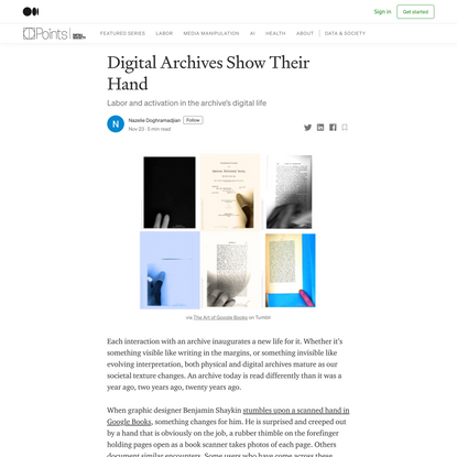 Digital Archives Show Their Hand