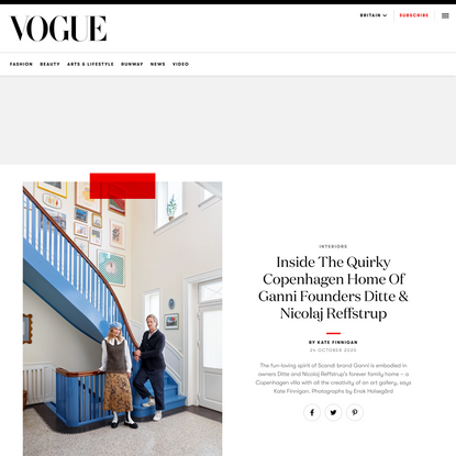 Inside The Quirky Copenhagen Home Of Ganni Founders Ditte & Nicolaj Reffstrup