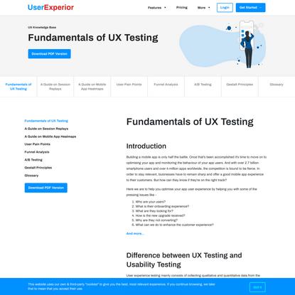 UX Analytics Guide | UserExperior