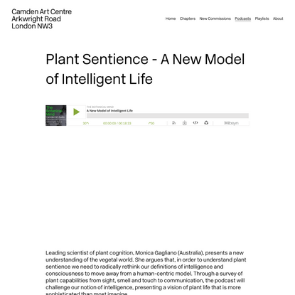 Plant Sentience - A New Model of Intelligent Life — The Botanical Mind