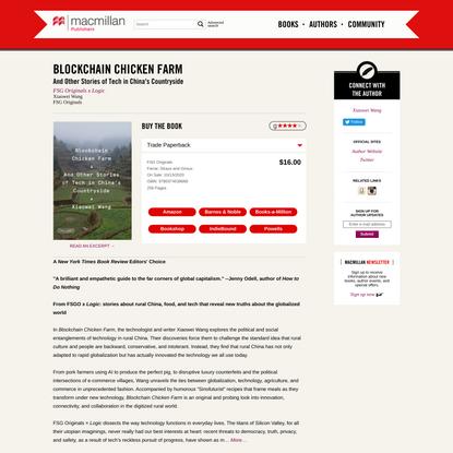 Blockchain Chicken Farm | Xiaowei Wang | Macmillan